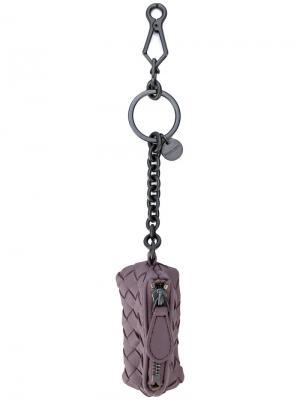 Плетеный брелок Bottega Veneta. Цвет: розовый и фиолетовый