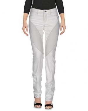 Джинсовые брюки 9.2 BY CARLO CHIONNA. Цвет: белый