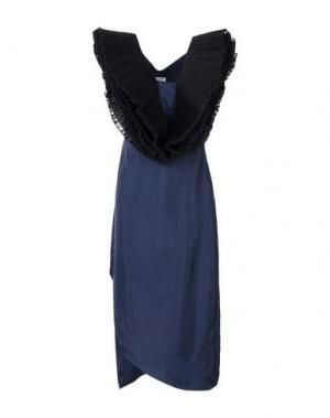 Платье до колена OPENING CEREMONY. Цвет: темно-синий