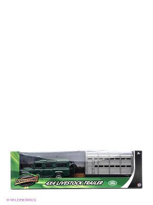Зеленый джип с прицепом HTI. Цвет: зеленый