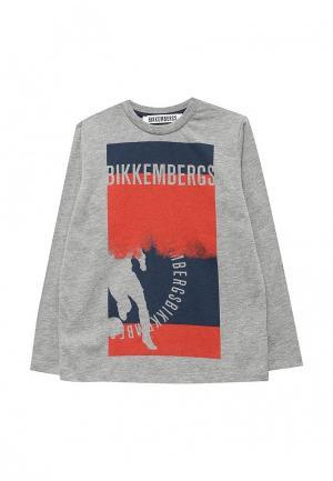 Лонгслив Bikkembergs. Цвет: серый