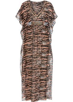 Пляжное платье (коричневый/оранжевый) bonprix. Цвет: коричневый/оранжевый