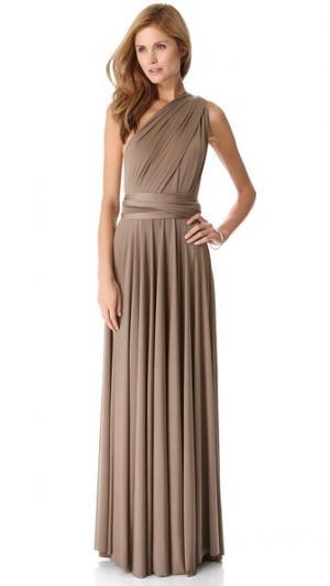 Универсальное макси-платье Twobirds. Цвет: гриб