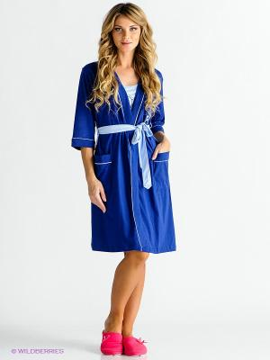 Комплект Vienetta Secret. Цвет: синий, голубой
