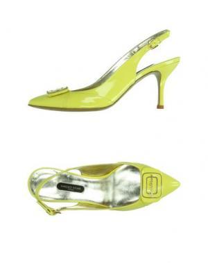 Туфли SANDRO VICARI. Цвет: желтый