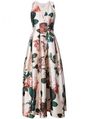 Длинное платье  с цветочным принтом Rubie Sachin & Babi. Цвет: многоцветный