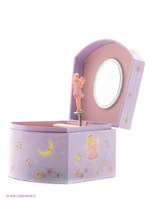 Музыкальная шкатулка с фигуркой в форме трапеции Jakos. Цвет: фиолетовый, розовый, желтый