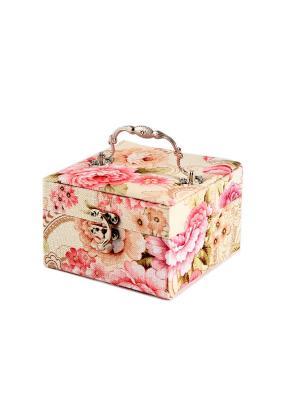 Шкатулка для ювелирных украшений Русские подарки. Цвет: светло-коралловый,розовый