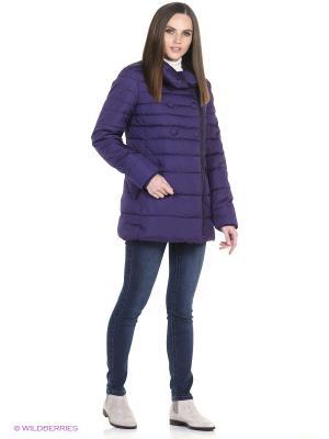 Куртка Oodji. Цвет: темно-фиолетовый