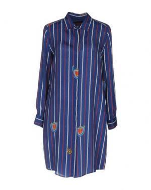 Короткое платье NEW YORK INDUSTRIE. Цвет: темно-синий