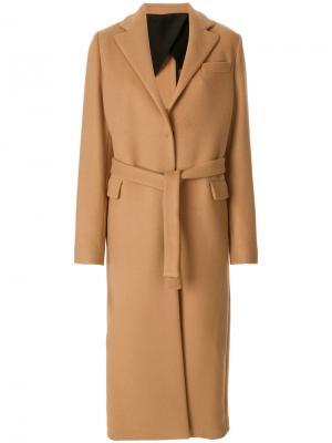 Пальто-тренч MSGM. Цвет: коричневый