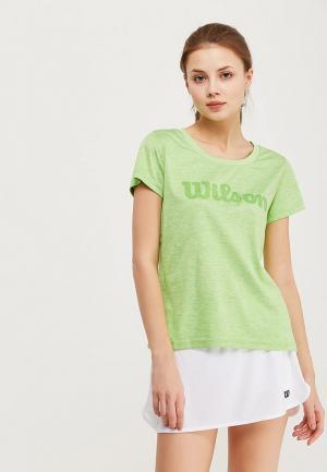Футболка спортивная Wilson. Цвет: зеленый