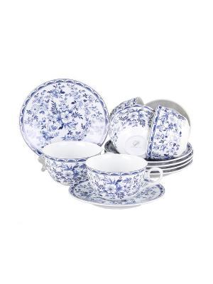 Набор чайный 12 предметов 250 мл., шт PATRICIA. Цвет: синий