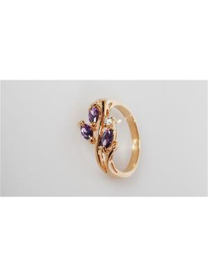 Кольцо Аметист Lotus Jewelry. Цвет: фиолетовый