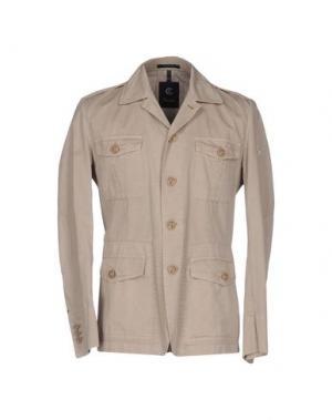 Куртка CALVARESI. Цвет: бежевый