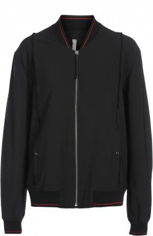 Куртка-бомбер Silent. Цвет: черный