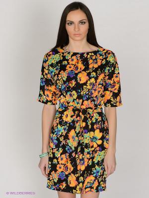 Платье Capriz. Цвет: черный, оранжевый, желтый
