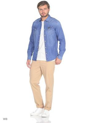 Рубашка WESTERN DENIM Wrangler. Цвет: голубой
