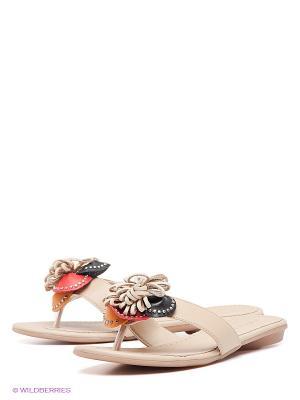 Пантолеты Felina shoes. Цвет: бежевый