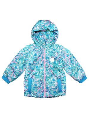 Куртка КОТМАРКОТ. Цвет: бирюзовый, голубой, розовый