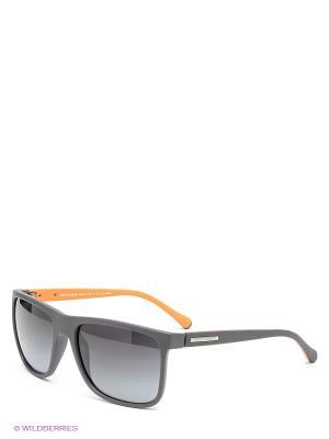 Очки солнцезащитные DOLCE & GABBANA. Цвет: темно-серый, черный