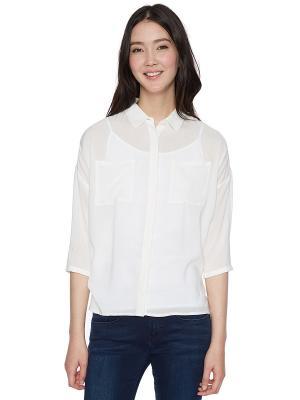 Блузка TOM TAILOR. Цвет: кремовый
