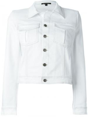 Куртка с вышивкой Nafsika Skourti. Цвет: белый