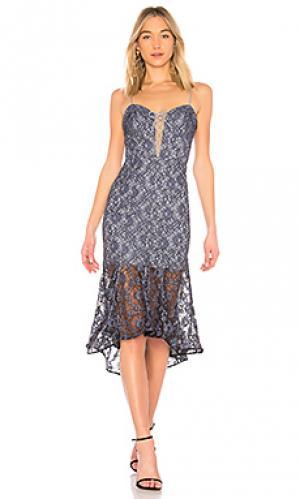Платье миди whisper NICHOLAS. Цвет: аспидно-серый