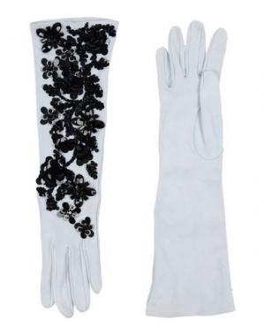 Перчатки DSQUARED2. Цвет: светло-серый