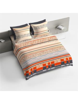 Комплект постельного белья 2.0 макси Браво рис.4075-1 Манфредо BRAVO!. Цвет: оранжевый