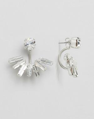 Krystal Серьги-подвески с кристаллами Swarovski. Цвет: серебряный