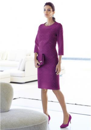 Платье MY STYLE. Цвет: розовый (ярко-розовый), синий