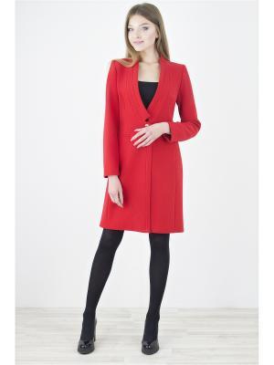 Пальто Elema. Цвет: красный