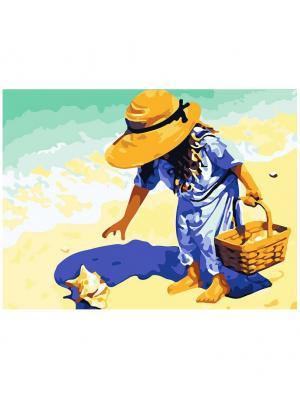 Живопись на холсте 30х40 см. Морские находки (171-AS) Белоснежка. Цвет: темно-бежевый, светло-оранжевый