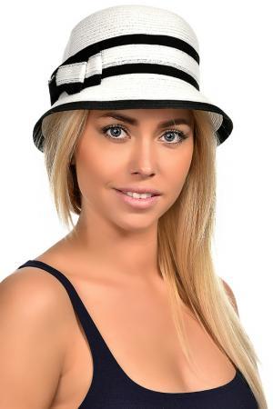 Шляпа DelMare. Цвет: белый, черный