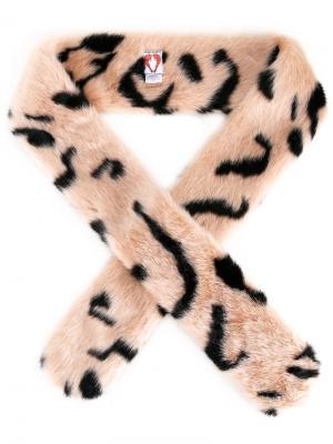 Henry faux fur scarf Shrimps. Цвет: розовый и фиолетовый