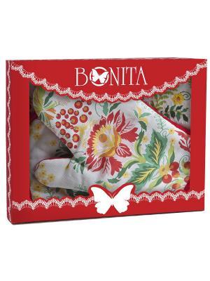Комплект BONITA. Цвет: зеленый, красный, белый