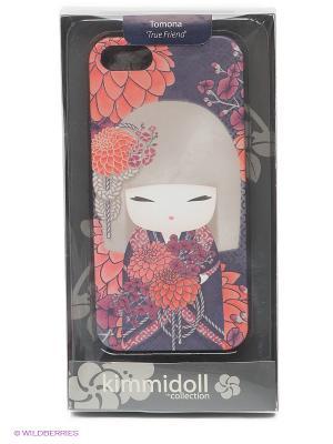 Чехол для IPhone 5 Томона Kimmidoll. Цвет: коралловый, фиолетовый