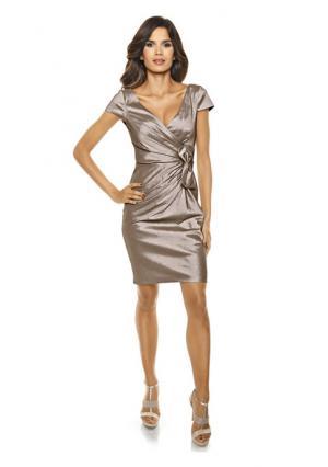 Коктейльное платье ASHLEY BROOKE by Heine. Цвет: изумрудный, серо-коричневый