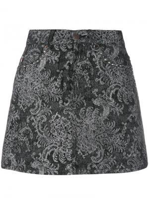Мини юбка с кружевным принтом Marc Jacobs. Цвет: чёрный