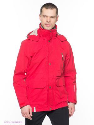 Куртка с капюшоном Rukka. Цвет: красный