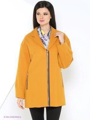 Пальто Lkurbandress. Цвет: горчичный