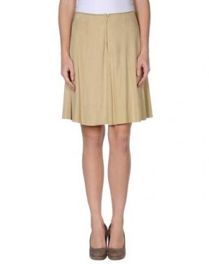 Кожаная юбка MARIELLA BURANI. Цвет: хаки