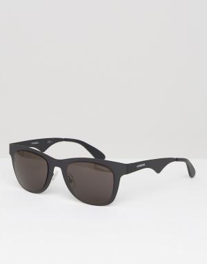 Carrera Черные квадратные солнцезащитные очки. Цвет: черный
