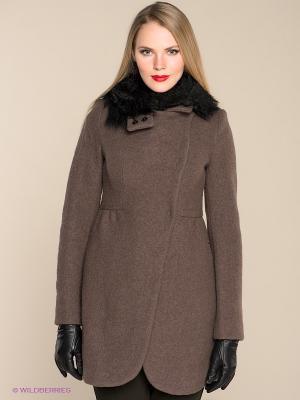 Пальто Isabel de Pedro. Цвет: серо-коричневый