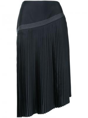 Асимметричная плиссированная юбка Nehera. Цвет: чёрный