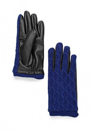 Перчатки Mango. Цвет: синий