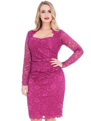 Платье Goddiva. Цвет: фиолетовый