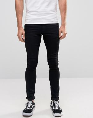ASOS Ультразауженные черные джинсы скинни. Цвет: черный