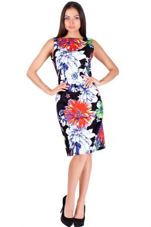 Платье Mannon. Цвет: черно-оранжевый